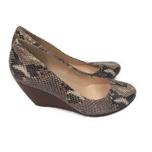 Cole Haan Women's Snakeskin Print Wedge Shoes NEW!
